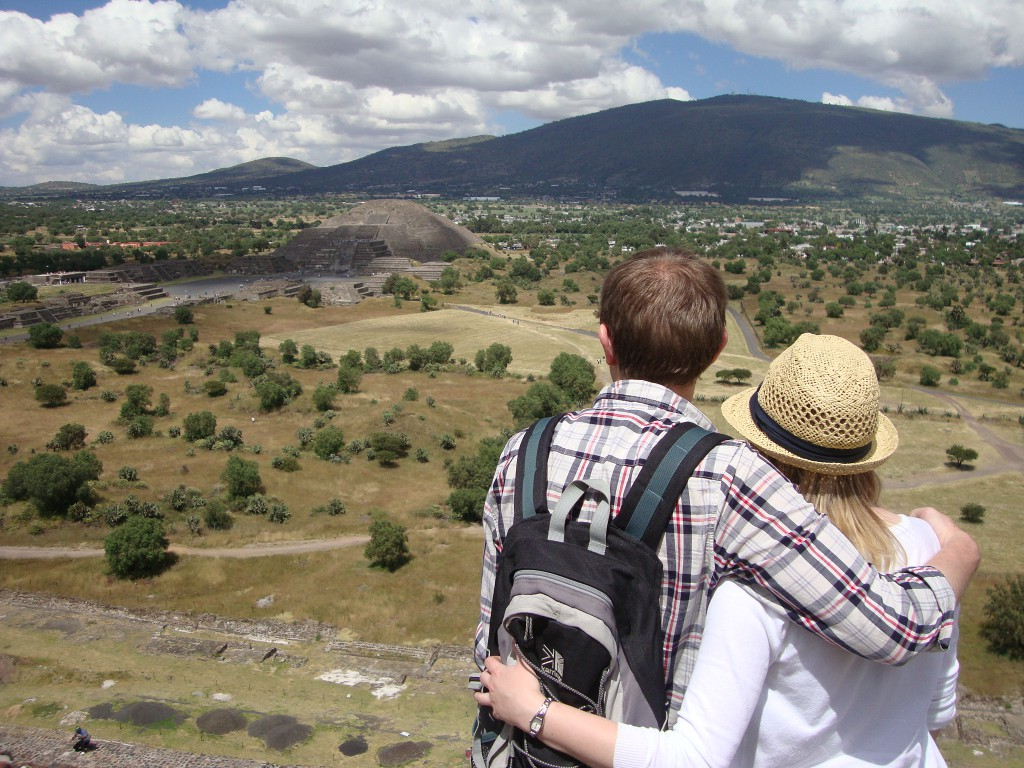 Anna and Tim in Teotihuacan, Mexico