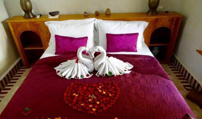 Romantic bed in Marrakech