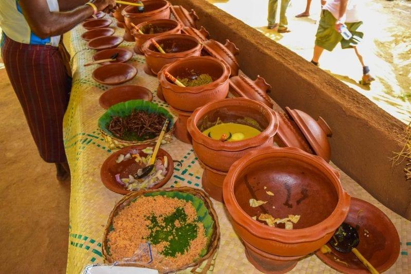Traditional Sri Lankan lunch