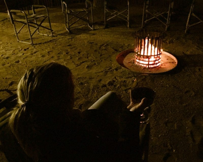 Africa on Foot: Drinks around the campfire