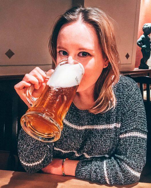 Would Be Traveller Vegetarian food in Hamburg Brauhaus Joh Albrecht Beer