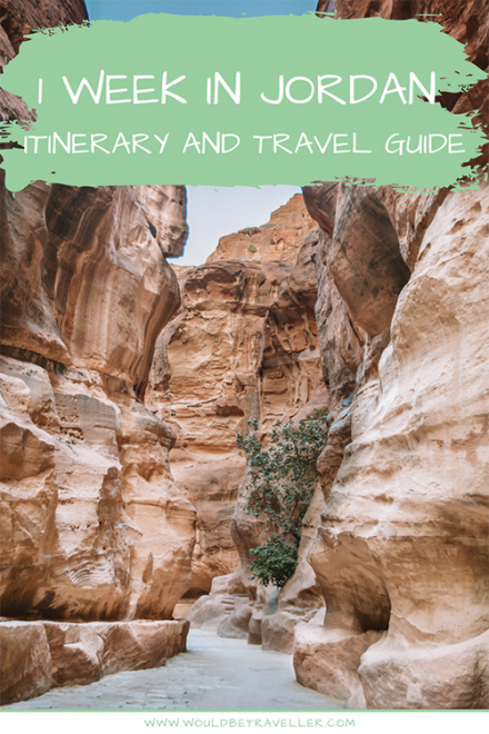 1 Week in Jordan Itinerary and Travel Guide Find out where to go and what to do with 1 week in Jordan, from the capital city of Amman to Petra, and from Wadi Rum to the Red Sea. This post also shares some tips on where to stay and where to eat in Jordan, as well as the visa requirements and advice on when to go! It's your one-stop guide for visiting Jordan. #Jordan #travel #travelitinerary