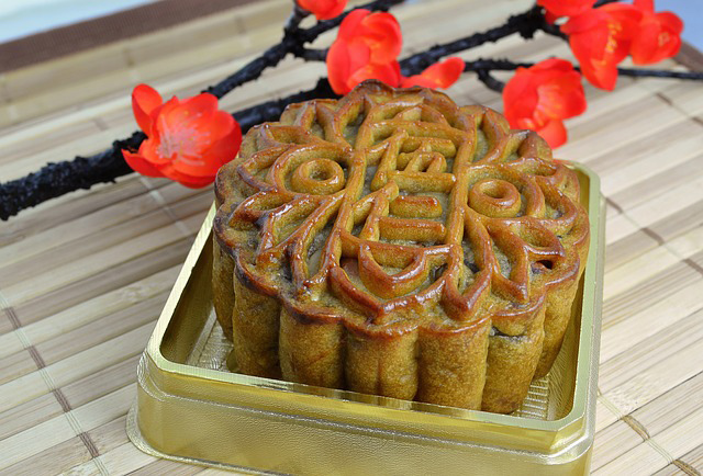 Chinese Moon Cake eaten to celebrate Golden Week