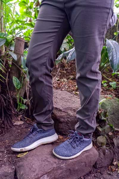 Woman wearing Nosilife Clara pants in the rainforest