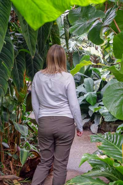 Woman wearing Craghoppers Nosilife clothing in jungle
