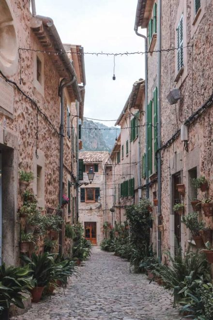 Pretty street in Valldemossa