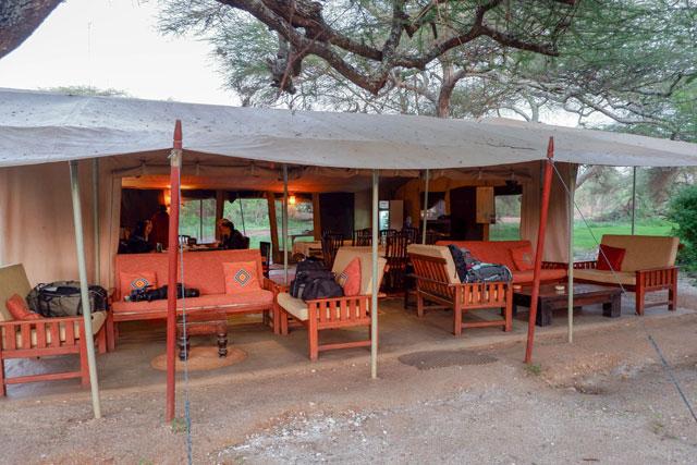 Porini Amboseli Camp mess tent