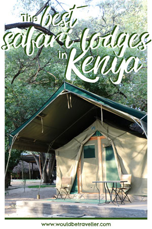 Would Be Traveller Best Safari Lodges in Kenya pin