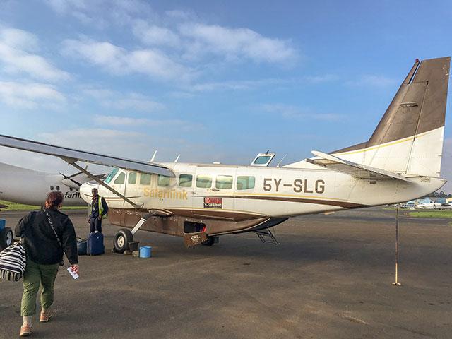 Boarding a Safarilink plane