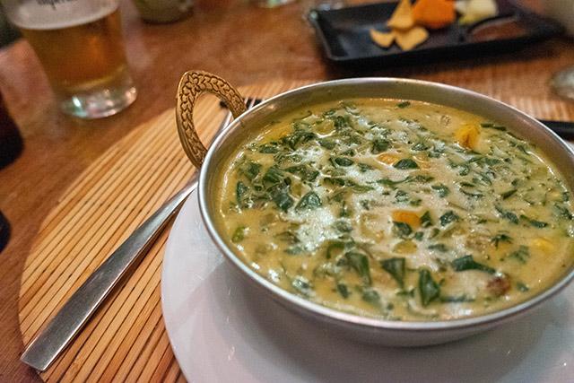 Vegetarian curry in Costa Rica