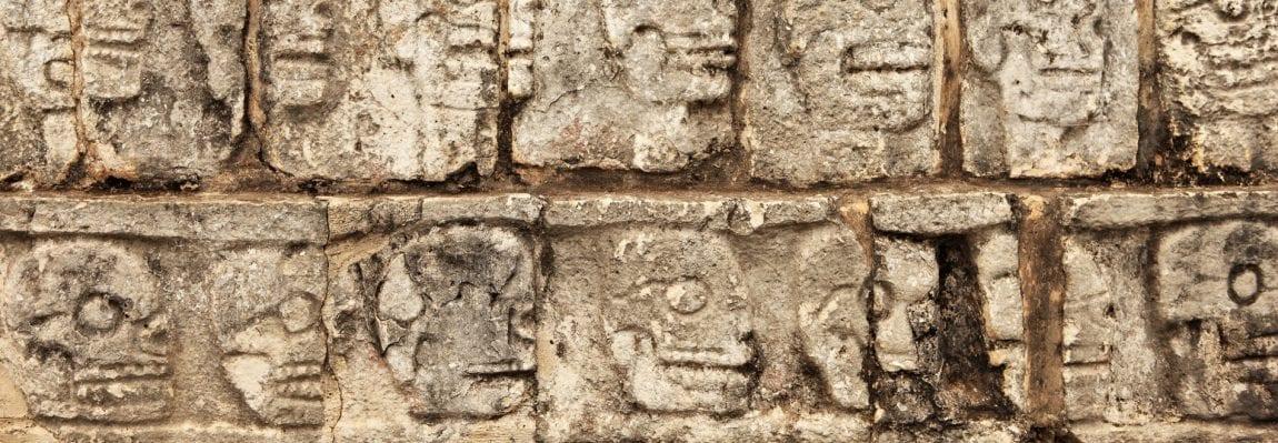 Mayan walls in Chichen Itza or Uxmal, Mexico