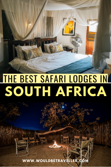 The Best South Africa safari lodges pin